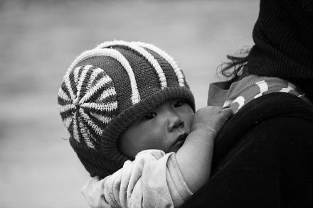 Tibetan baby in northwestern China